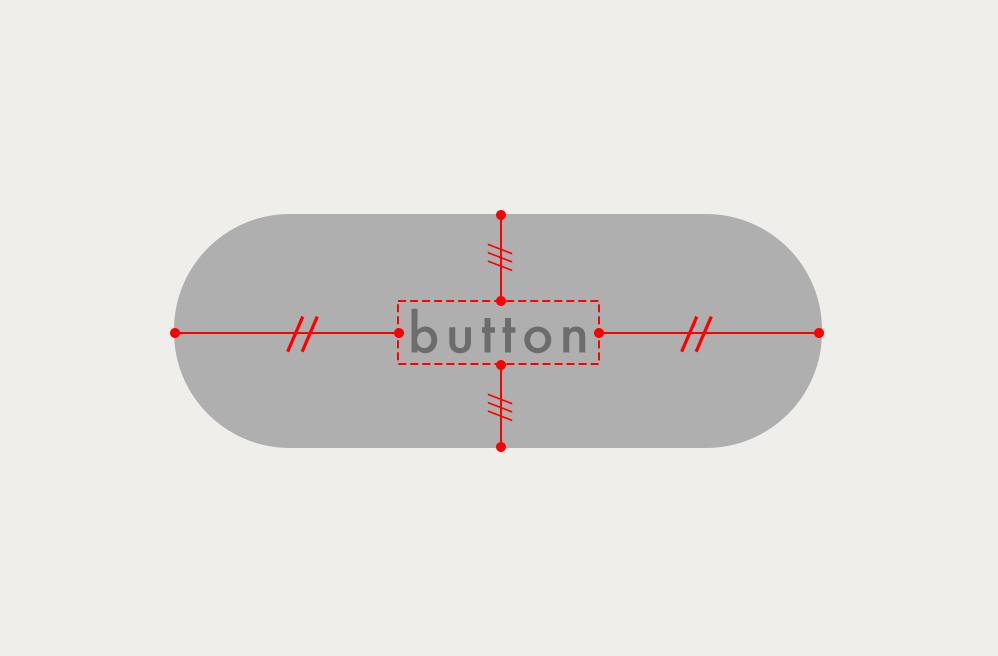 ボタンのサイズを固定せずに上下左右中央に文字を表示する